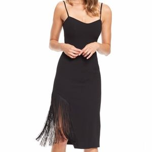 Dress the population black fringe dress size small